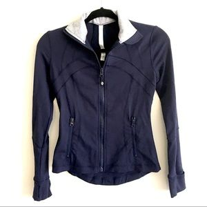LULULEMON Define Jacket With Striped Collar Blue 2